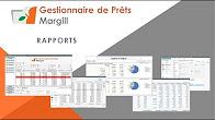 Gestionnaire de Prêts Margill - Rapports