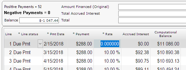how to delete lines in caseware amortization